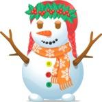 Snowman Girl with Mistletoe