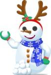 Snowman with Tiara and Snowballs