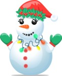 Snowman with Christmas Hat