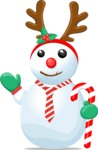 Snowman with Candy Cane and Tiara