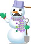 Uncle Snowman with Shovel