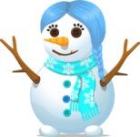 Snowman Girl with Braids