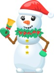 Snowman with Hat and Bell