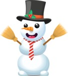 Snowman with Tie and Hat