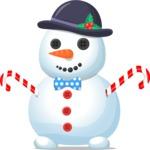 Chubby Snowman with Bowtie
