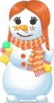 Snowman Ginger Girl