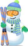 Snowman with Ski