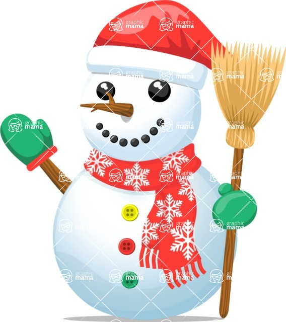 Snowman Graphic Maker - Snowman with Broom