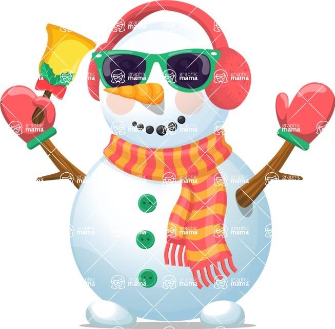 Snowman Graphic Maker - Snowman with Earmuffs