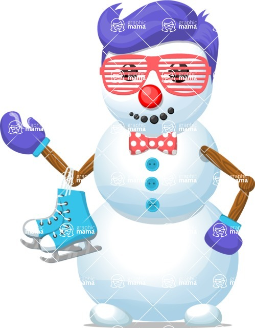 Snowman Graphic Maker - Funky Snowman