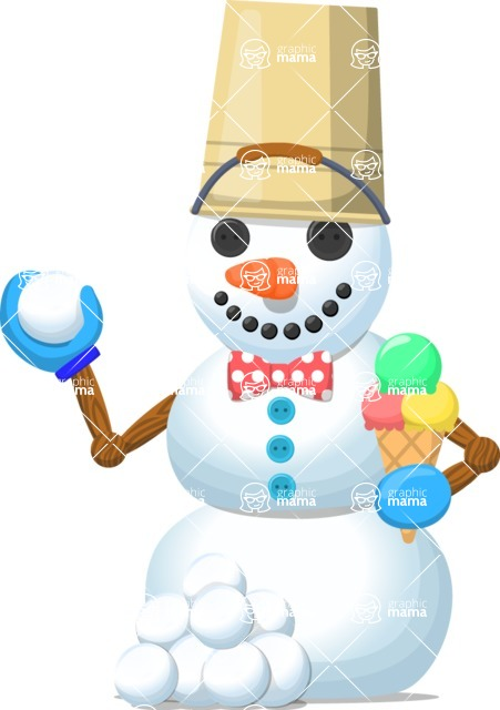 Snowman Graphic Maker - Snowman with Icecream
