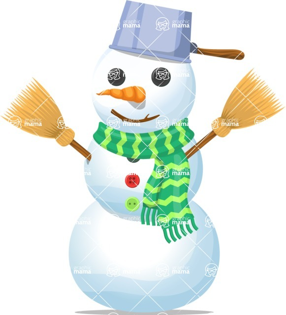 Snowman Graphic Maker - Snowman with Pan