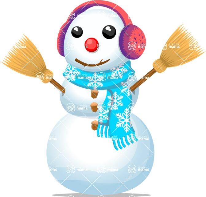Snowman Graphic Maker - Cute Snowman with Earmuffs
