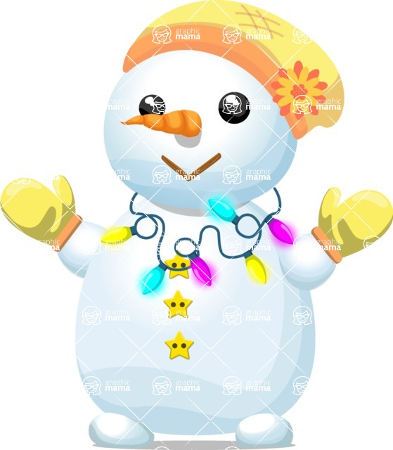 Snowman Graphic Maker - Cheerful Snowman with Hat
