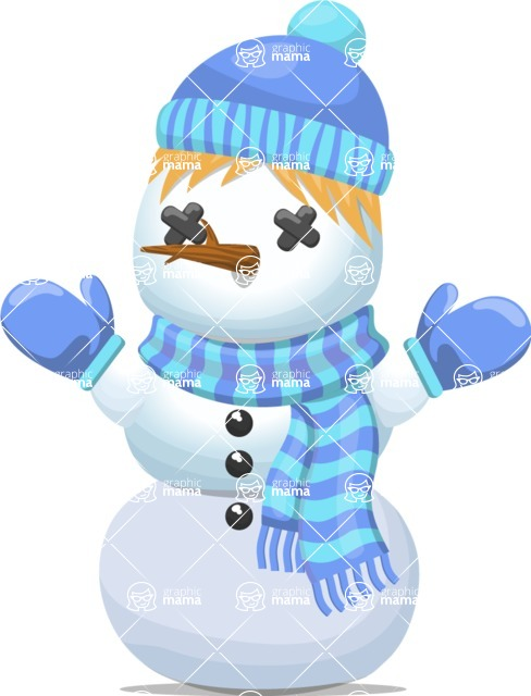 Snowman Graphic Maker - Snowman with Hat and Scarf