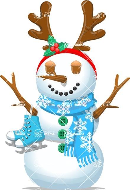 Snowman Graphic Maker - Snowman with Figure Skates