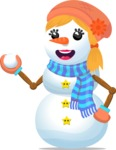 Snowman Graphic Maker - Snowman with Snowball