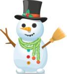 Build Your Jolly Snowman - Snowman with Black Hat