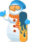 Snowman Graphic Maker - Snowman with Snowboard