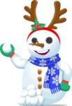 Snowman Graphic Maker - Snowman with Tiara and Snowballs