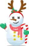 Build Your Jolly Snowman - Snowman with Candy Cane