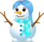 Build Your Jolly Snowman - Snowman Girl with Braids