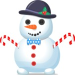 Snowman Graphic Maker - Chubby Snowman with Bowtie