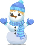 Build Your Jolly Snowman - Snowman with Hat and Scarf