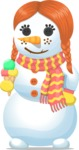 Snowman Graphic Maker - Snowman Ginger Girl
