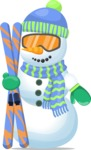Build Your Jolly Snowman - Snowman with Ski