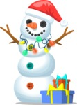 Build Your Jolly Snowman - Snowman with Festive Lights