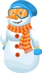 Snowman Cartoon Vector Character - Normal
