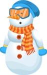 Snowman Cartoon Vector Character - Bored