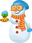 Snowman Cartoon Vector Character - Decoration