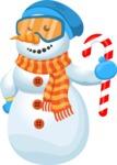 Snowman Cartoon Vector Character - Candy 2