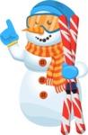 Chillie the Snowman - Ski