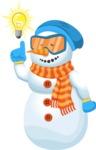 Snowman Cartoon Vector Character - Idea