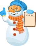 Snowman Cartoon Vector Character - Wish List