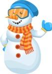 Snowman Cartoon Vector Character - Thumbs Up