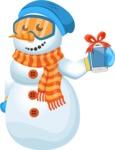 Snowman Cartoon Vector Character - iPhone