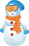 Snowman Cartoon Vector Character - Cold