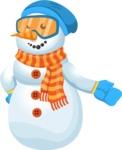 Snowman Cartoon Vector Character - Show