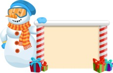 Snowman Cartoon Vector Character - Presentation 2