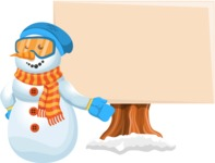 Snowman Cartoon Vector Character - Presentation 4