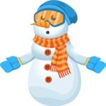 Snowman Cartoon Vector Character - Stunned