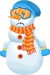 Snowman Cartoon Vector Character - Sad
