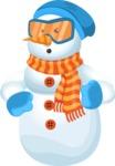 Snowman Cartoon Vector Character - Angry