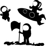 Universe Vectors - Mega Bundle - Astronauts Silhouettes in Space