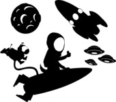 Universe Vectors - Mega Bundle - Rockets and UFOs in Space