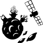 Universe Vectors - Mega Bundle - Aliens on the Moon Silhouette